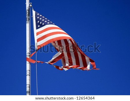 Ragged american flag