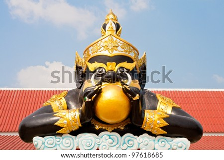 Rahu at the Temple in  Thailand