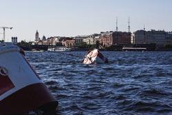 Raid barrels on the Neva River