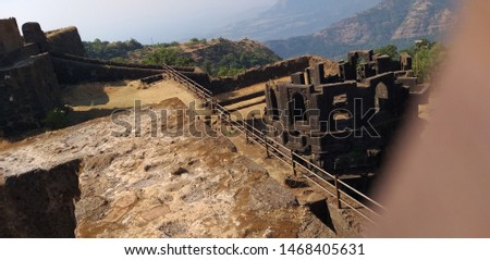 Raigad fort Old Historical Building