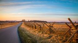 rail fence in Gettysburg national park