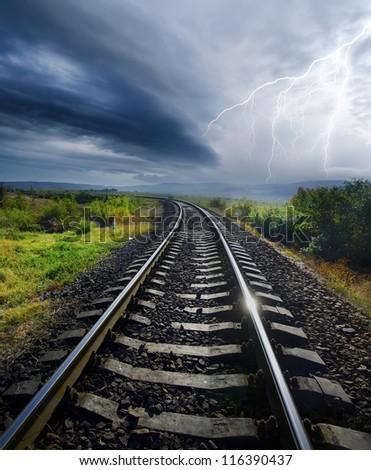 rail road - stock photo