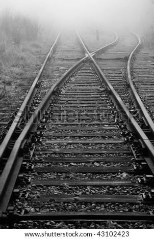 Rail road. Vanishing point.