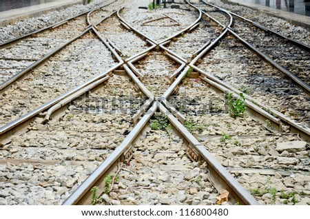 Rail Train - stock photo