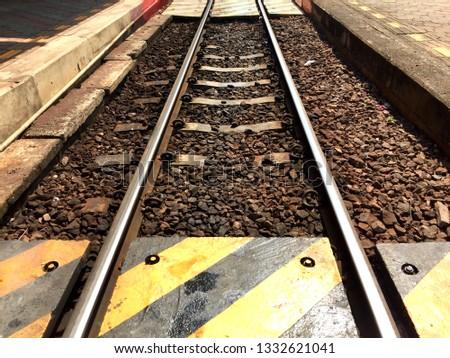 Railroad and railroad crossing #1332621041