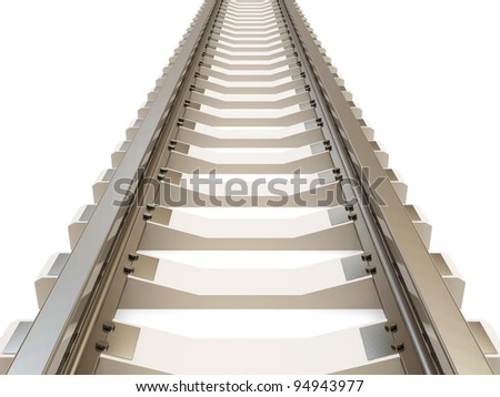 Railroad isolated on white background