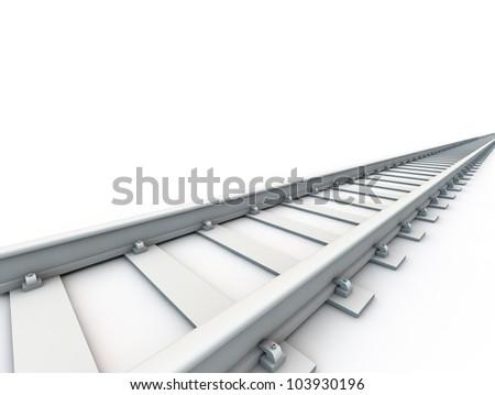 Railroad over white background