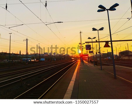 Railroad Sundown in Ratisbona #1350027557