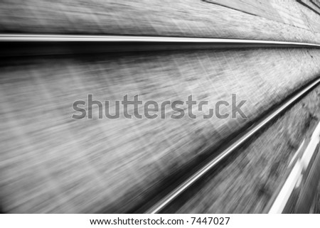 Railroad track with motion blur