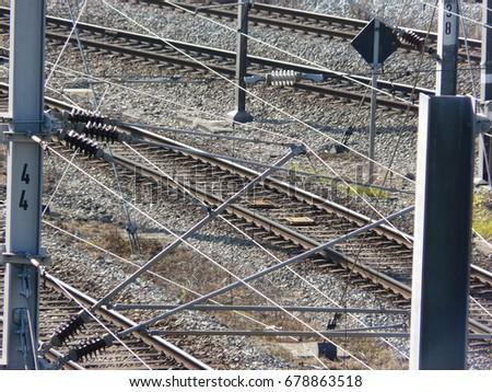 railroad tracks #678863518