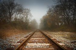 Railroad tracks, abstract path Virginia