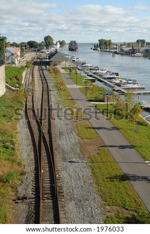 Railroad tracks along the Genesee River, Rochester, New York