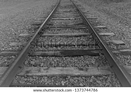 Railroad tracks forward #1373744786