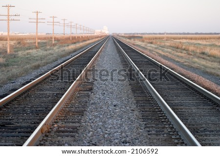 railroad tracks in an endless line across the midwest