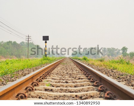 Railroad tracks in the morning, railroad, Classic railroad in Thailand. #1340892950