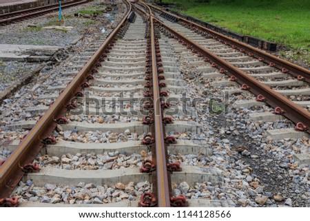 Railroad tracks thailand