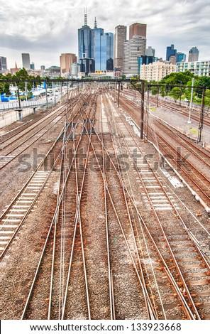 Railroads heads to the city - High Dynamic Range