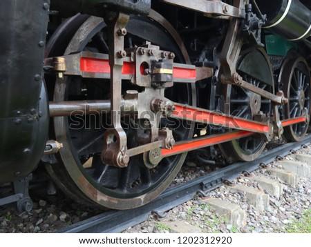 Rails wheel and Railroad tracks of ancient trains #1202312920