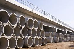 railway bridge cement pipe