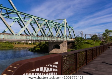 Railway bridge Southern Attractions Taiwan #1009772428