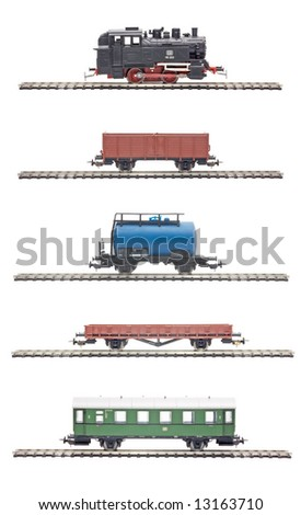 Railway, coach, locomotive (Photoshop path included in file)