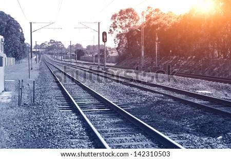Railway crossing in Brisbane