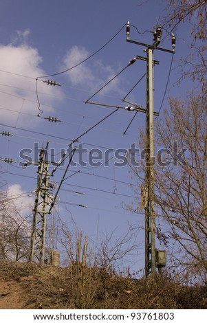 Railway electric overhead
