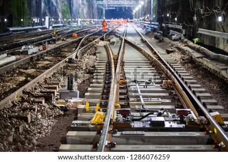 Photo of  railway point on tracks uk