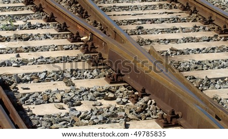 Railway railroad track - (16:9 ratio)