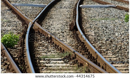 Railway railroad tracks - (16:9 ratio)