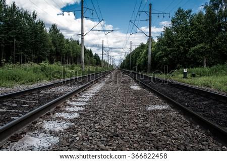 Free photos Railway receding into the distance  Along the railway