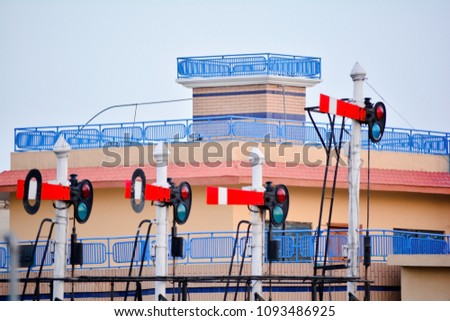 Railway signal , Signals have aspects and indications.  #1093486925