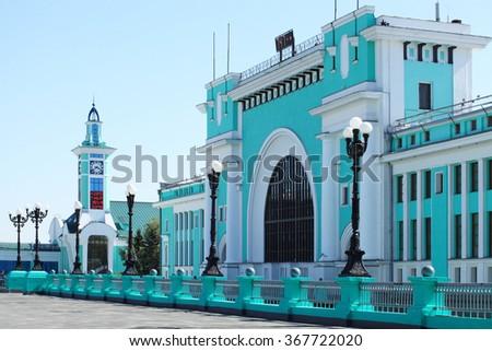 stock photo railway station in the city of novosibirsk 367722020 - Каталог — Фотообои «Новосибирск»
