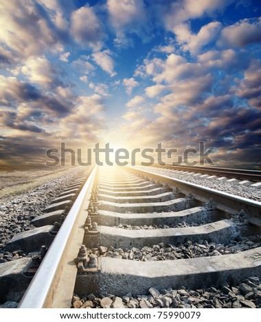 railway to sunny horizon