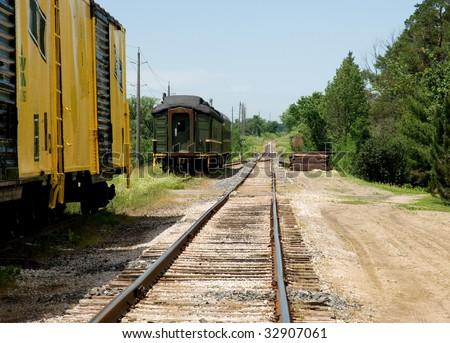 RAILWAY TRACKS IN RURAL SETTINGS