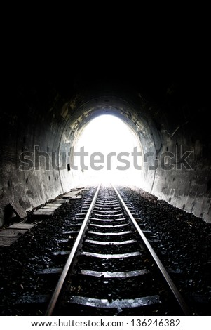 railway tunnel in Thailand