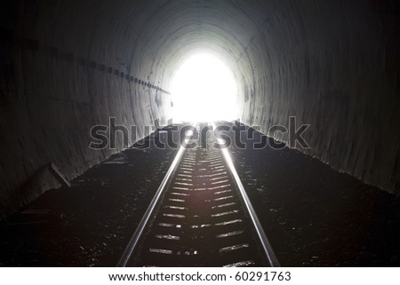 Railway tunnels. Used to transport goods.