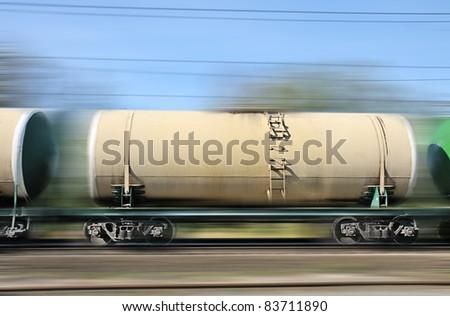 railway wagons. Transportation of oil overland railway transport.