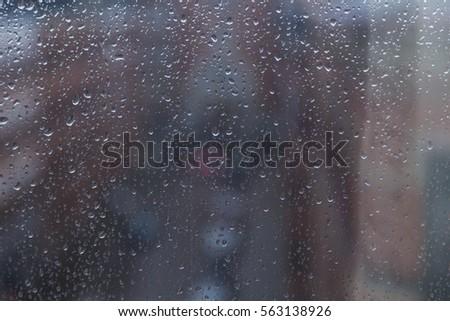 rain days ,rain drops on the window  #563138926
