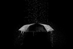 rain drop on black background
