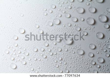 Rain drop on white background