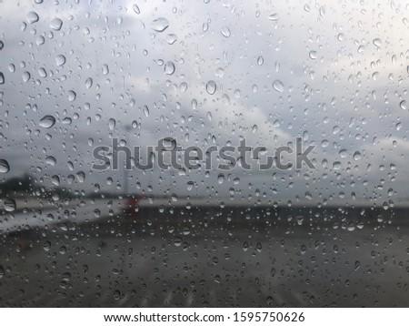 Rain droplets on a window