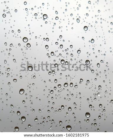 rain droplets on the glass,