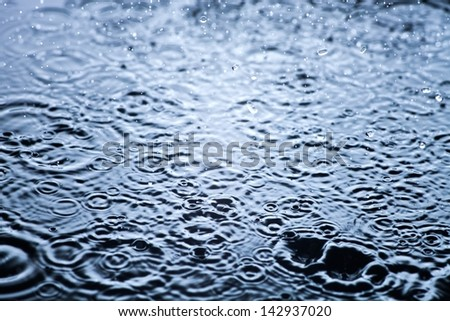Rain Drops Frozen, Water Closeup Background