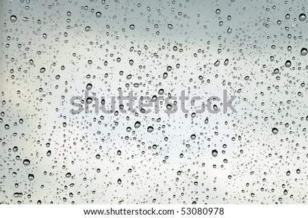 Rain drops on a windowpane