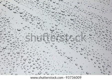 rain drops  on black car roof