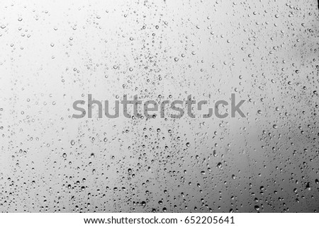 Rain drops on the glass, background #652205641