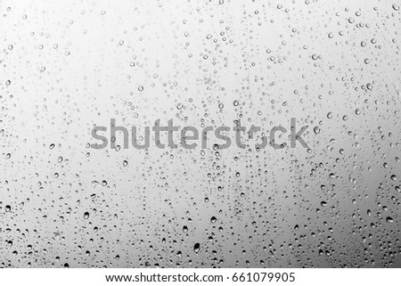 Rain drops on the glass, background #661079905