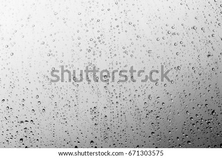 Rain drops on the glass, background #671303575