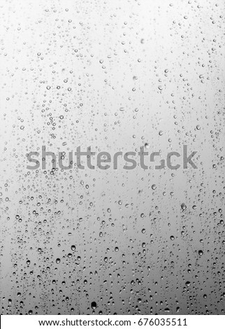Rain drops on the glass, background #676035511